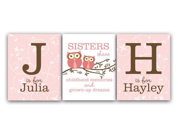Like this item?  sc 1 st  Etsy & Nursery Wall Art Twins Art Sisters Wall Art Sister Quote