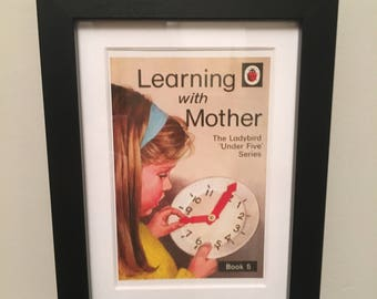 Retro Ladybird Book cover. Learning with Mother