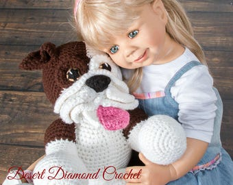 Baby Bulldog Stuffed Animal - Custom Made To Order