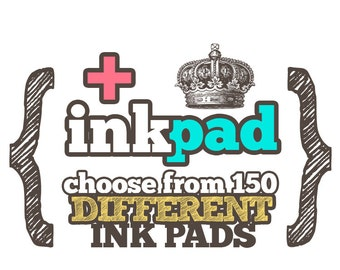ADD Standard INK or Permanent PAD to Any Custom Art Wood Mounted Rubber Stamp