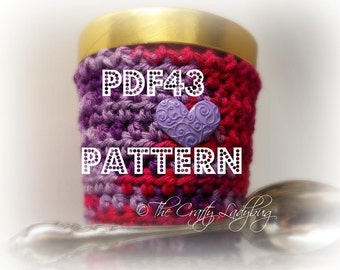 Crochet ice cream cozy I pattern - pint size - 473 mL - PDF43 digital download