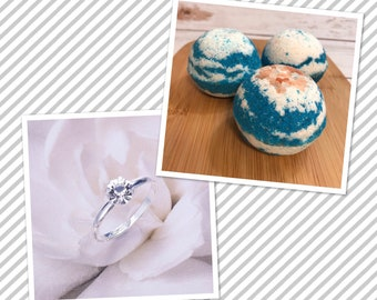 Wholesale Faux Ring Bath Bombs Bath Bomb with Ring Bath Bomb Surprise Surprise Bath Bomb Jewelry Bath Bomb