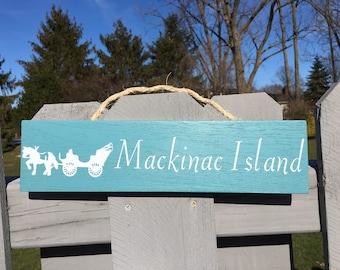 Mackinac Island Carriage Sign
