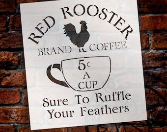 "Vintage Coffee Sign Stencil - 10.5"" x 11.5"" - STCL1428_1"