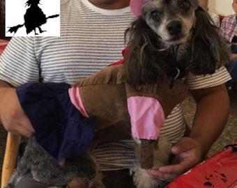 "DOG HALLOWEEN COSTUME , ""cow girl"" Dog Costume, Halloween For Pets,"