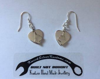 Spudling's Solid Silver French Bulldog Earrings- Handmade!