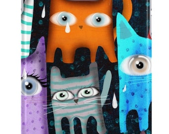 Cases  -   Raining Night Cats Polka Dots Party