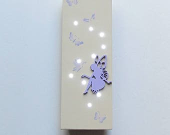 Glowing Fairy Light, Magic Fairy Light, Fairy Decor, Hanging Light, Night Light, Glowing Fairy, Fairy and Butterfly, Fairy Wall Art