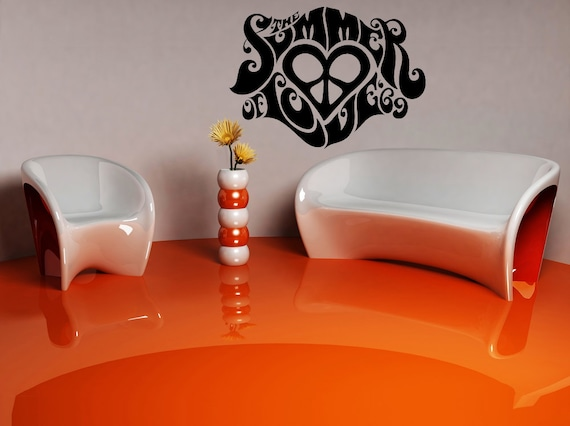 1960s Retro Hippie Wall Decal by VinylWallAdornments