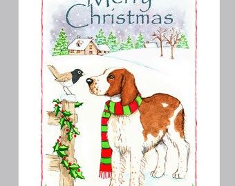 Welsh Springer Spaniel Christmas Cards Box of 16 Cards & Envelopes