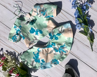 "18"" Doll Floral Crop Top, 18"" Doll Circle Skirt to Fit Like American Girl Doll Clothes, 18"" Doll Clothes, 18"" Doll Skater Skirt,"