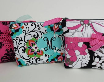 Personalized Monogrammed Choose Your Fabric Cosmetic Bag