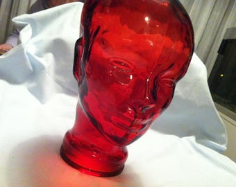 Vintage red Glass Head Decoration Store Window