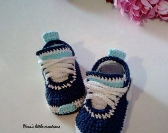 Newborn baby shoes Type Nike/baby crochet Shoes