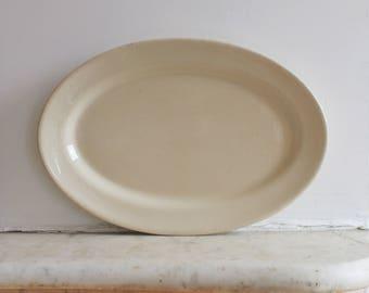 Vintage Diner China Platter, Caribe, Puerto Rico, USA Stoneware