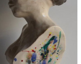 color within - one of a kind womans ceramic sculpture