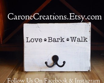 Personalized Leash Holder sign