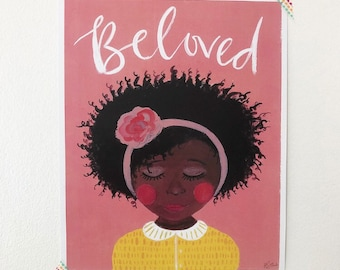Beloved girl print