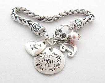 MOM BRACELET-Mothers DayJewelry-Special Mothers Day Gift-Mother Jewelry-Gift from Daughter-Mother Daughter Gift-Best Mom Ever-Gift From Kids
