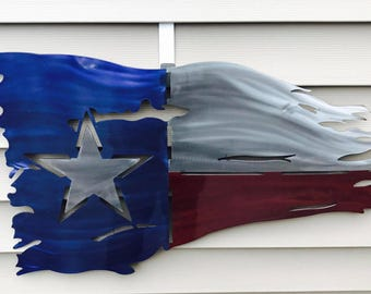 Tattered Texas State Flag