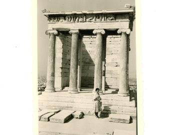 Vintage photo - Greek temple - Original Vintage Photos from PhotoTrouvee - 1950s found photo