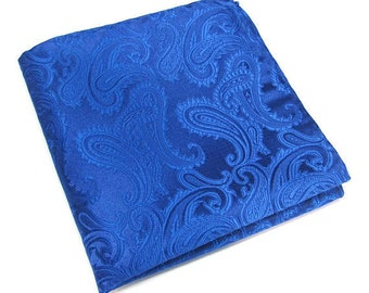Pocket Squares Royal Blue Paisley Hankies
