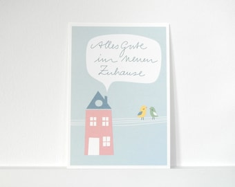 Postcard» good luck in their new home.