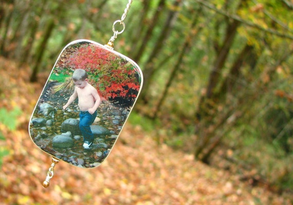 Custom Christmas Tree Photo Ornament - O3RRec-a