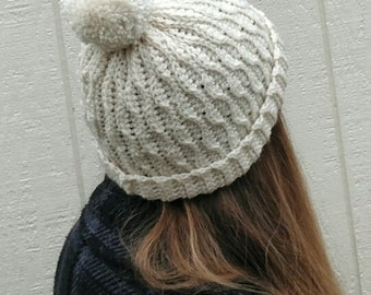 Evergreen beanie hat pdf crochet pattern