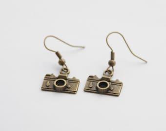 Camera Earring * Selfie Earrings * Vintage Camera Earrings * Photographer Gift Jewelry * Camera Jewelry