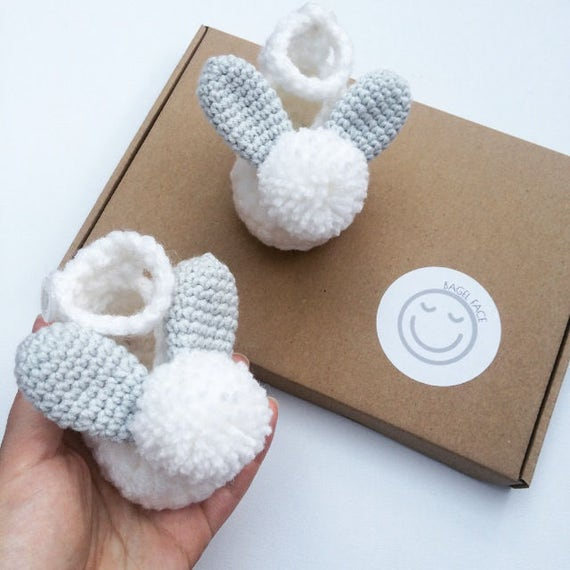 Crochet baby shoes easter baby gift new baby gift newborn like this item negle Gallery