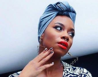 Denim Headwrap | Denim Blue hairscarf | Denim Scarf | Headscarf | Ladies Scarf | various colour headwraps
