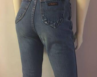 Vintage Women's 70's Wrangler Jeans, High Waisted, Straight Leg (S)