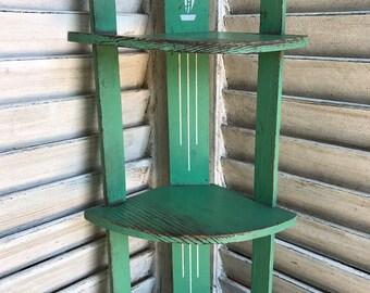 Vintage Corner Wooden Shelf