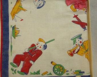 Vintage Boxed Boys Kiddie Hankdkerchief World War II