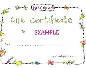 Gift Voucher for Custom Pet Portrait 8x10 by Jennie Deane