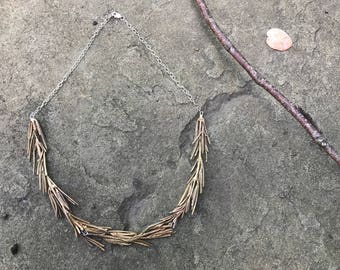 Ancient Bronze Rosemary Necklace