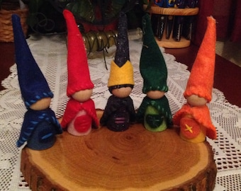 King Equal and his friends - Homeschool Math Gnomes-Waldorf inspired- Made to Order