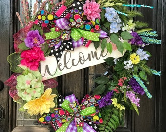 Welcome to my flower garden wreath.
