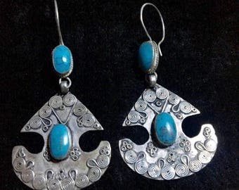 Persian Queen Turquoise Earrings