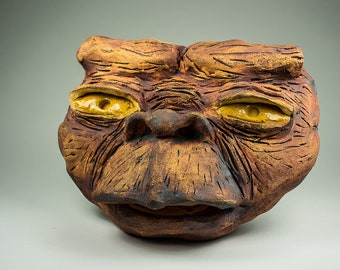 E.T. the Extra Terrestrial ceramic sculptural mask