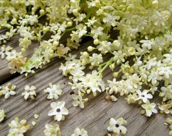2oz organic Elderflowers, dried, Sambucus nigra, flower, natural, greek, herb, tea, bath, herbal, wicca, pagan, magic, witchcraft,