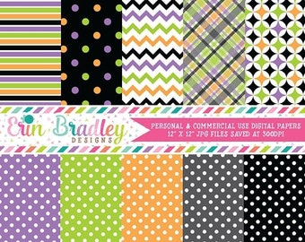 80% OFF SALE Digital Scrapbook Papers Personal and Commercial Use Halloween Pretties