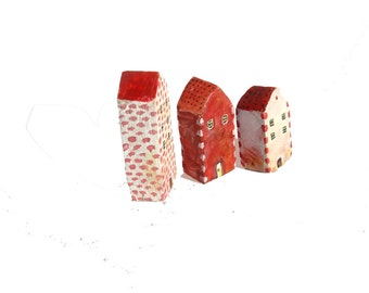 Tiny wooden houses / Little rustic village / Miniature houses