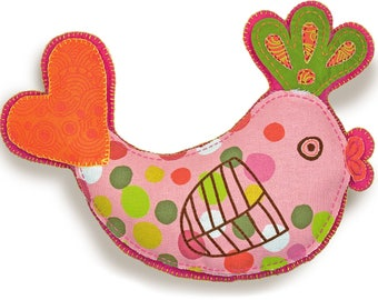 """Dimensions """"Handmade Embroidery"""" Bird Pillow Kit  Dimensions Needlecrafts Handmade Embroidery, Bird Stuffable"""