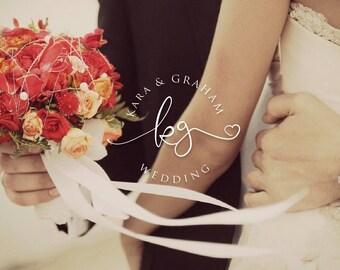 Premade Logo,Photography Logo,Wedding Logo Monogram,Business Logo,Wedding Photography Logo,Initials logo,wedding monogram,anniversary logo