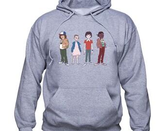 Stranger Things sweatshirt/ Mike Lucas Dustin Eleven hoodie/ Stranger Things Characters pullover/ Stranger Things gift/ sweater/ (Q234)
