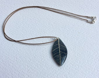 Hand made Skeleton Leaf with Paper and Resin - Small