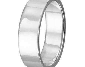 Silver Band, Men's Band, Ring Band, 925 Sterling Silver Band, Wedding Band 6mm Band