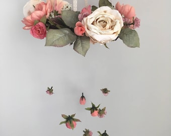 Rouge & Cream Floral Mobile